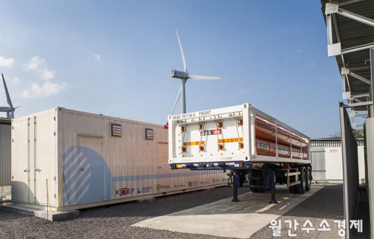상명풍력발전소, P2G 그린수소 생산현장
